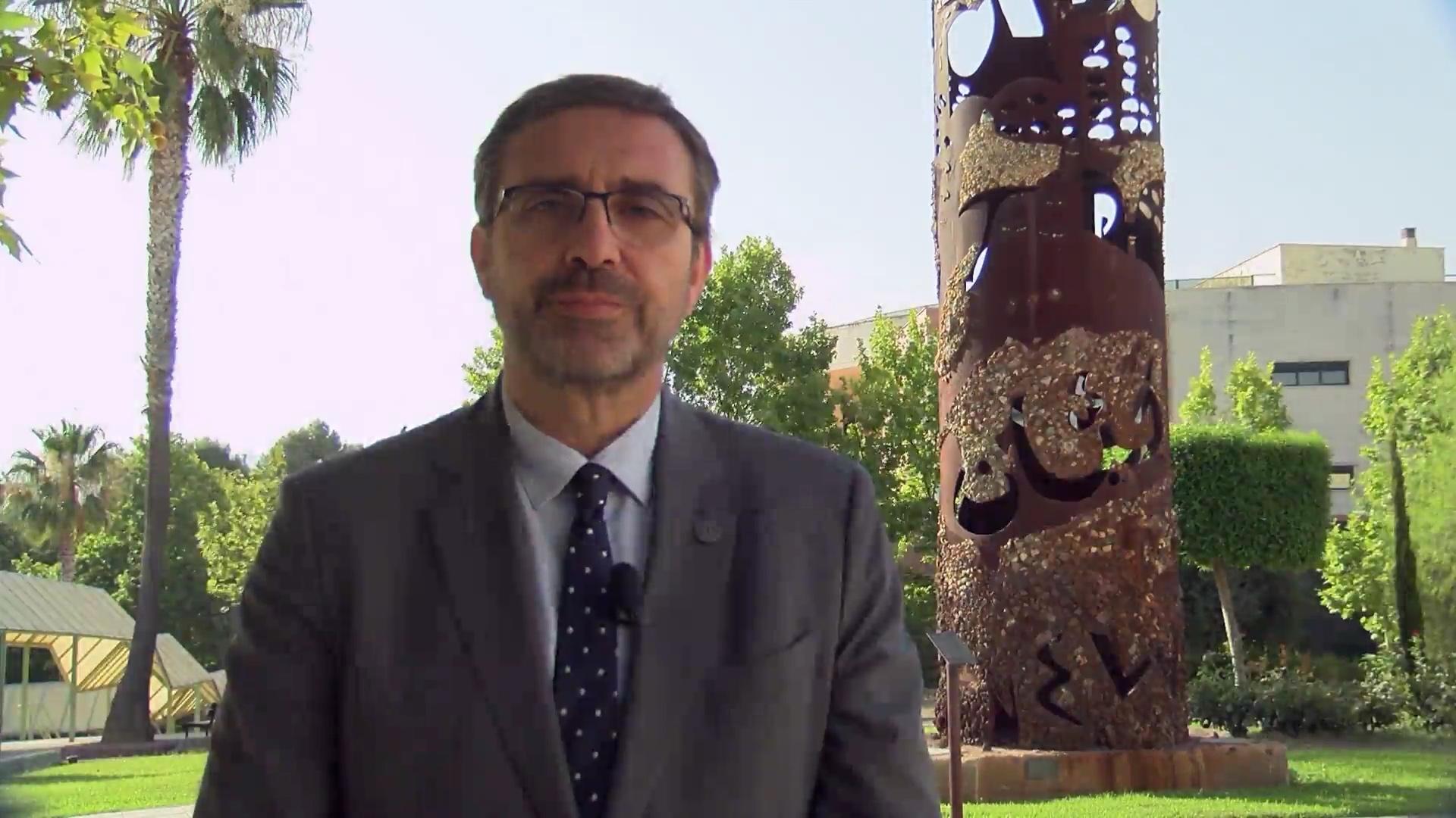 Juan Gómez Ortega, Rector de la Universidad de Jaén