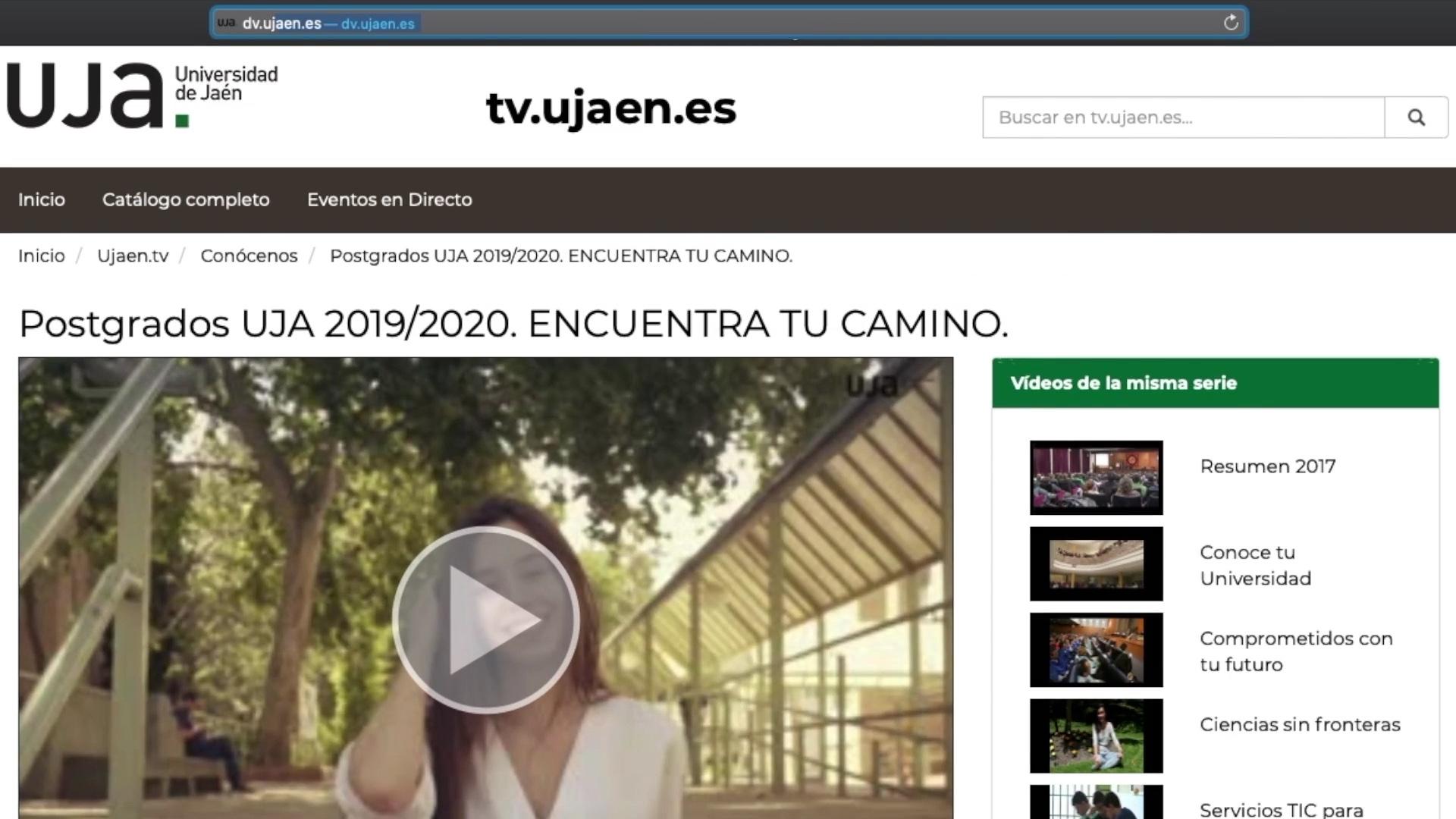 Insertar vídeos desde el Repositorio Audiovisual de la UJA a la Plataforma de Docencia Virtual