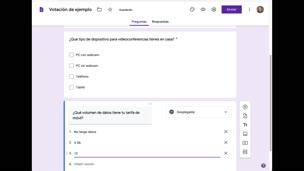 Votaciones con Google Forms