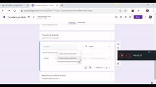 Cómo utilizar Google Forms para hacer exámenes (2/5). Tipo de preguntas