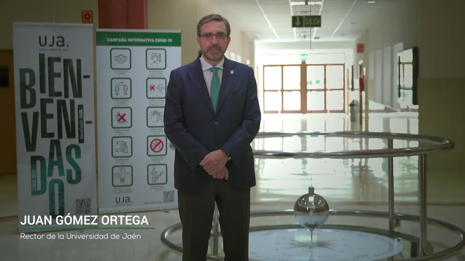 Mensaje de bienvenida del Rector de la Universidad de Jaén con motivo del inicio de las clases (curso 2020-2021)